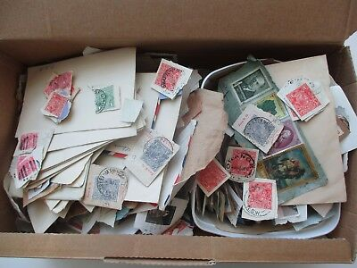 ESTATE: unchecked unsorted appears old world in shoebox HEAPS   (2913)