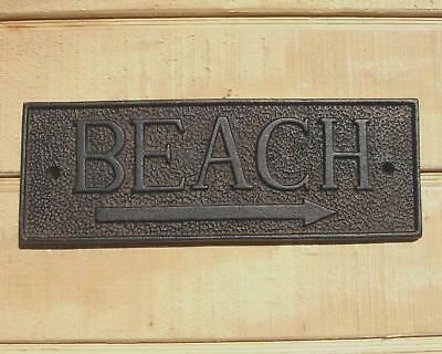 Rustic Cast Iron patio deck pool to the BEACH SIGN new