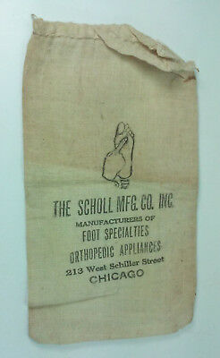 1933 Scholl Mfg Co Manufacturers Foot Specialties Advertising Mail Bag W/postage