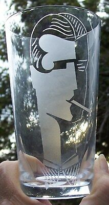 5 Baccarat Deco Smoker Clear Tumblers Glasses Never Used Rare Discontinued