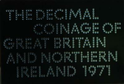 Uncirculated 1971 Coinage Of Great Britain & Northern Ireland Proof Set Free S/H