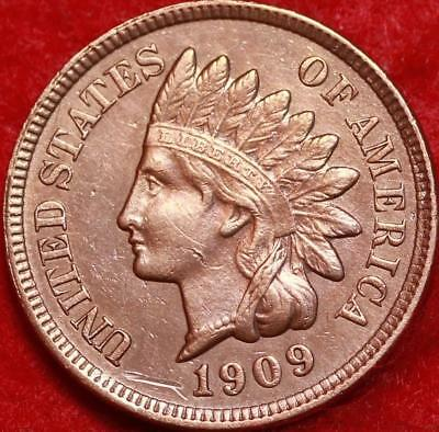 Uncirculated 1909 Philadelphia Mint Copper-Nickel Indian Head Cent Free Shipping