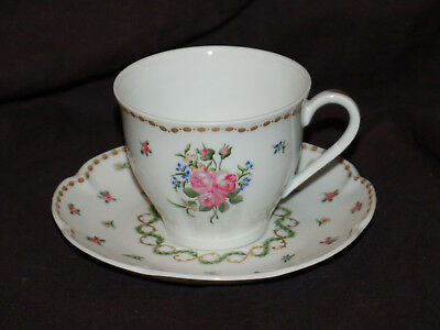 (1) Haviland Limoges France Cup and Saucer Set   Marval