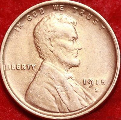 1918-S San Francisco Mint Copper Lincoln Wheat Cent Free Shipping