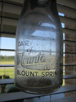 Rare Early Vintage Mountain Brook Farm-Blount Springs, Alabama Dairy-Milk Bottle