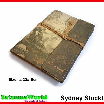 Romantic notebook cahier journal scrap book vintage rope bind travel hot new
