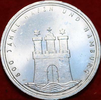 Uncirculated 1989 Germany 10 Mark Foreign Silver Coin Free S/H