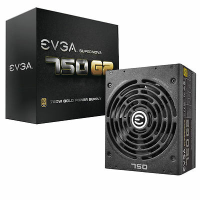 EVGA SuperNOVA Series G2 750 Modular 750W 80 Plus Gold Certified Power Supply