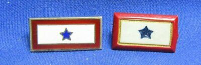WWII Bakelite and Sterling Son In Service Blue Star Home Front Pins Lot Of 2