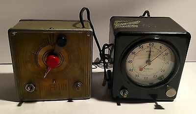Darkroom Timers ~ Pair ~ Master Time-O-Lite & Thompson ~ Both Working!