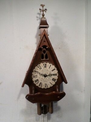 New England Cathedral2  Weight Wall Clock
