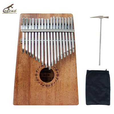 Gecko 17 Key Kalimba African Thumb Piano Finger Percussion Keyboard Marimba Wood