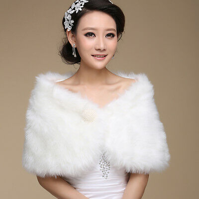 Wedding Jacket Elegant Nobility Warm Wedding Accessories Short Faux Fur Bridal