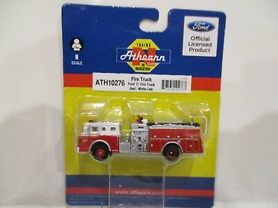 Athearn N Scale Fire Pumper Truck - Red & White Cab - New