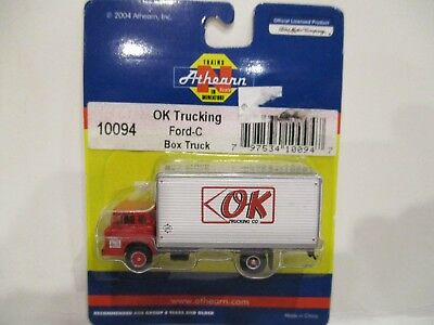 "Athearn N Scale Ford-C Box Truck - ""ok Trucking Company"" - New"