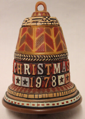 Vintage Hallmark Cards 'christmas 1978' Bell Excellent Condition