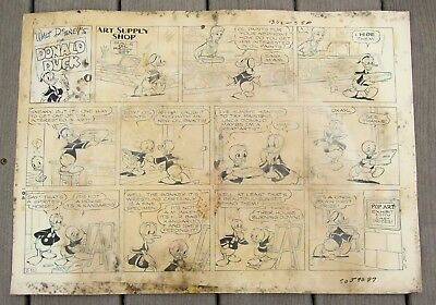 1968 Walt Disney's Donald Duck Large Original Comic Strip Artwork-Lower Grade