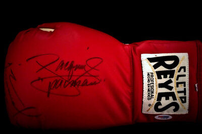 Manny Pacquiao Juan Manuel Marquez Signed Boxing Glove Wbc Mint Cleto Reyes