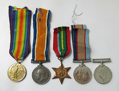 Australian WWI & WWII Family Medal Group A-SGT WATSON 53-BN & SIG D. BURNS AWAS