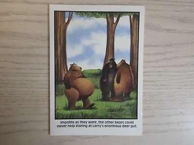 Vintage 1987 The Far Side Birthday Card Larrys Enormous Deer Gut