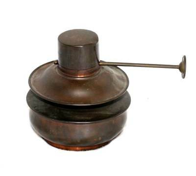 Vintage Boyds Patent copper arts & crafts oil lamp in excellent condition