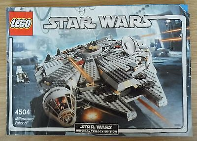 Lego Star Wars 4504 Millennium Falcon instructions only no Lego see listing
