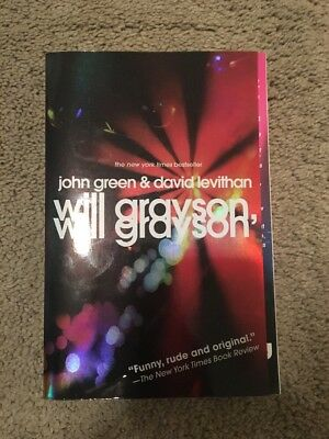 John Green And David Levithan Will Grayson Paperback Book FREE SHIPPING