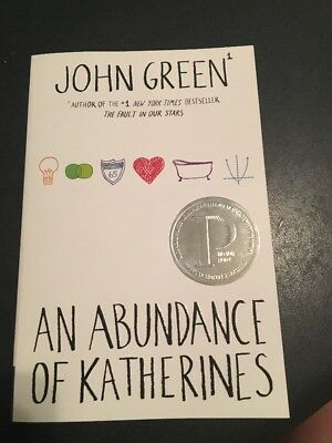 John Green An Abundance Of Katherines Paperback Book FREE SHIPPING