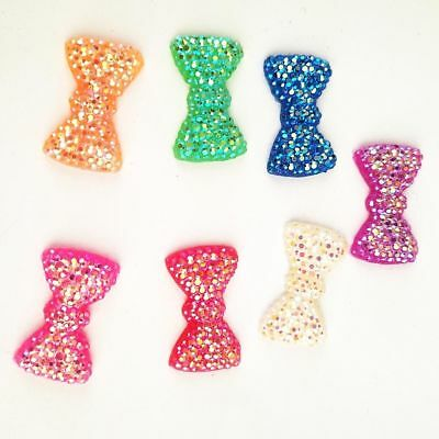 20-100pcs 12*20mm AB Resin BOW FlatBack Appliques/Wedding decoration /craft DIY