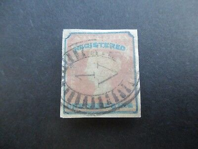 Victoria Stamps: Registration Stamp 01/12/1854 Used (A61)