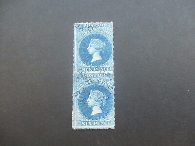 South Australia Stamps: 6d Blue Perforated Pair Used  (A47)
