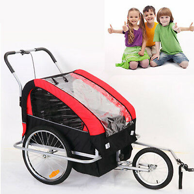 2IN1 Children Bicycle Pram Stroller Kids Bike Trailer Child Jogger AU STOCK