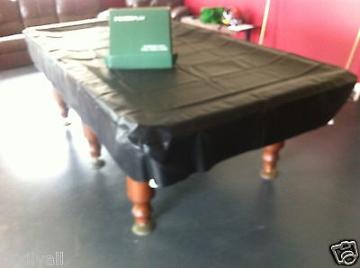 DARK GREEN THICK VINYL COVER FOR 8 x 4 FOOT BILLIARD POOL SNOOKER TABLES