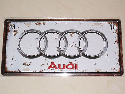 Audi - Novelty Metal Number Plate / Sign - 1910 Auto Union Horch Germany A4 R8