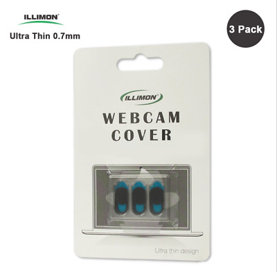 3 pack Plastic WebCam Covers Web Laptop iPad Camera Secure Protect Your Privacy