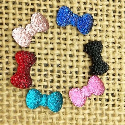 DIY 20pcs BOW Resin FlatBack Appliques//Wedding decoration craft Button C492*2