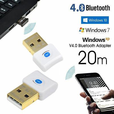 Wireless USB 2.0 Bluetooth Adapter V4.0 Dongle Receiver for PC WIN XP AU STOCK