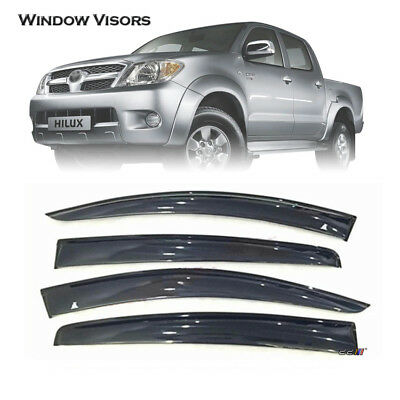 Weather Shield|Window Visor|Deflector Guard For Hilux-Vigo-Champ 4_Door 05-14