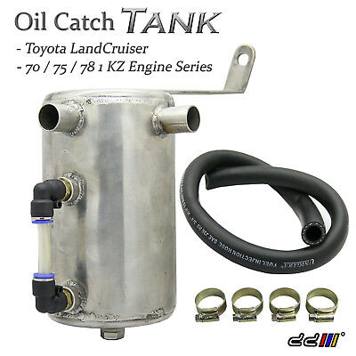Oil-Catch-Can-Tank|Stainless Steel|For Land_Cruiser 75/78/3.0L/1KZ Diesel_Turbo