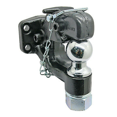 Heavy_Duty [8-Ton] Ball Combo Pintle Towbar Hook Hitch Towing For Truck Trailer