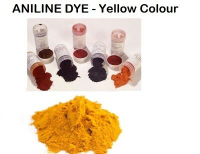 Aniline Dye Powder (Alcohol / Water Soluble) Yellow 120g