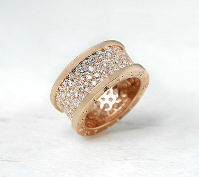 Bulgari 18K Rose Gold 2.30Ct Diamond B.zero 1 Ring - Com884