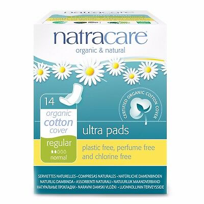 Natracare Ultra Pads with Wings Regular/Super/Long Organic Cotton Plastic-Free