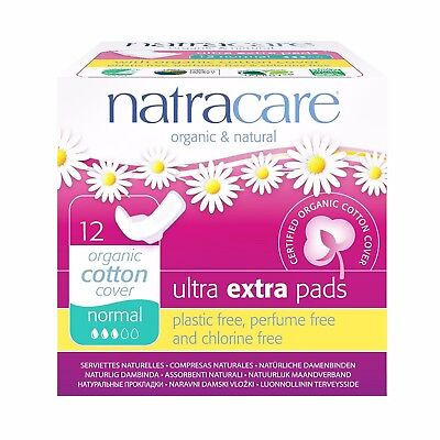 Natracare Ultra Extra Pads with Wings Regular/Super/Long Plastic-free Organic