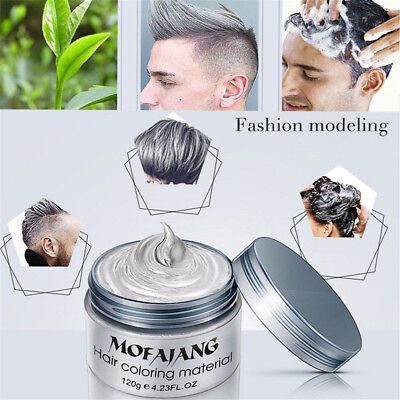 Unisex DIY Styling Hair Color Wax Mud Dye Cream Temporary Modeling Easy Wash HE