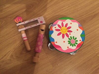 Child's Wooden Musical Instruments - 3 Pieces