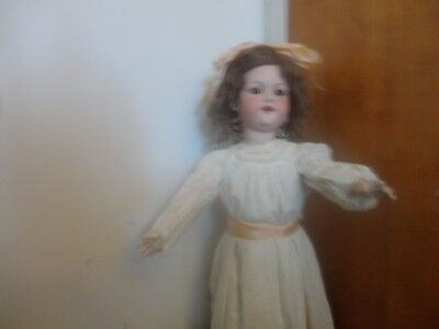 30 Inch Antique 390 Doll With Originial Wig And Shoes  And Antique Clothing