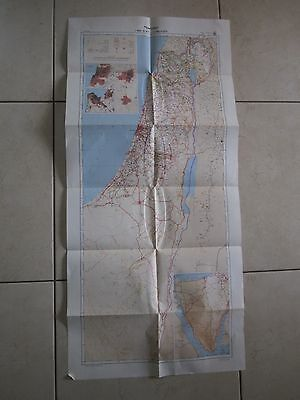 """A """"COMPARISON""""  MAP OF ISRAEL 1948 - 1980, 1:500000 SCALE, 1981.  cs2078"""