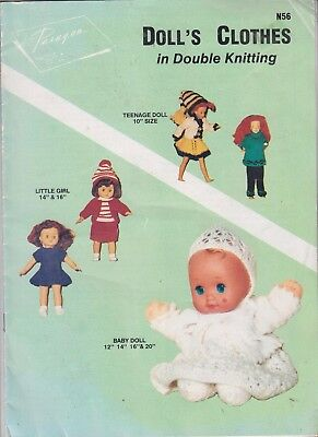 Quickly Knitted  N56 Clothes For Dolls  10'' 12''14'' 16'' 20'' Inches High