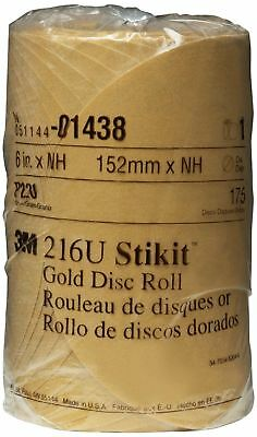 3M 01438 Stikit Gold 6 Inch P220A Grit Disc Roll